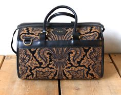 Vintage 1970s Cool Showline Tapestry Luggage by VintageRosemond, $98.00