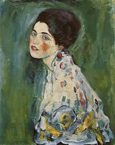 such a beautiful face. Gustav Klimt