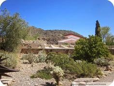 Taliesin West Desert Living - Frank Lloyd Wright's winter home and architectural school in Scottsdale Arizona