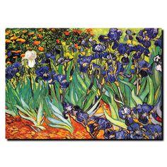Found it at Wayfair - 'Irises at Saint-Remy' by Vincent Van Gogh Painting Print on Canvas http://www.wayfair.com/daily-sales/p/Classic-Framed-%26-Canvas-Artwork-%27Irises-at-Saint-Remy%27-by-Vincent-Van-Gogh-Painting-Print-on-Canvas~TMAR6701~E18836.html?refid=SBP.rBAZEVTNeD9UdGhazmAPArCqCYoNg0_vli-VOtnwhzI