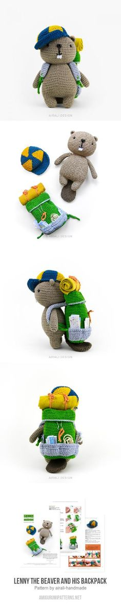 Lenny the Beaver and his Backpack amigurumi pattern