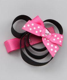 Hot Pink Minnie Clip - Zulilly/Hair Flair - Perhaps a DYI?  So cute