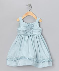 Take a look at this Vintage Blue Nancy Shantung Dress - Infant, Toddler & Girls by Spring Soirée: Girls' Dresses on #zulily today!