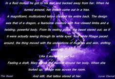 And still, that tattoo stared at her.  Rhage, the Beast, Mary, Eternal.