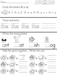 math worksheet : autumn kindergarten no prep language arts worksheets  language  : Kindergarten Art Worksheets