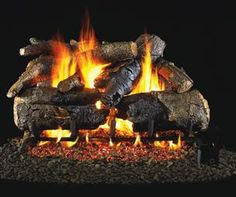 Charred American Oak Gas Logs - Like an artist who can bring the beauty of nature to life, Real-Fyre artisans work from real wood samples to meticulously recreate the intricate bark detail and natural coloration of deeply charred wood. Gas Fire Logs, Gas Fireplace Logs, Wood Burning Fires, Fireplace Inserts, Gas Fires, Electric Fireplace, Fireplace Ideas, Gas Fireplaces, Shiplap Fireplace