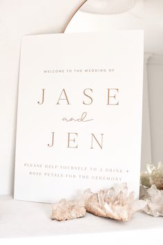 Welcome Sign - Signage - Wedding - Decor - Bride - Bridal - Groom - Date - Rose Gold - Photography - Crystals - Graphic Design - Wedding Stationery - Event Wedding Signage, Rose Petals, Wedding Stationery, Groom, Wedding Decorations, Place Card Holders, Rose Gold, Graphic Design, Bride