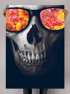 Fancy - Skull and Sunglasses Print