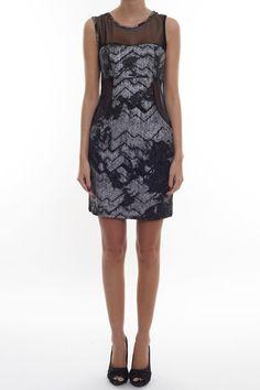 IRELA KJOLE Dress with cutout mesh pieces.