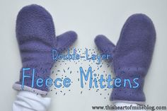 Double-layer fleece mittens. The pattern looks dead simple. I dunno. Maybe worth a try!