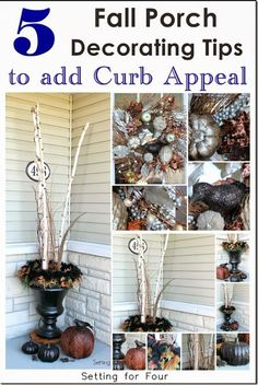 5 Fall Porch Decorating Tips for Curb Appeal     Setting for Four