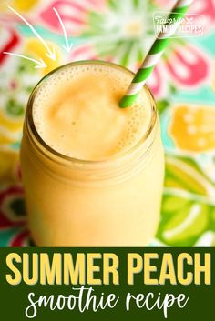 This Creamy Peach Smoothie is a copycat of Roxberry's Peachy Keen Smoothie. Smoothies are a great breakfast for me because I can just throw everything in the blender, blend it up, and take it on the go! #smoothie #peachsmooth #breakfast #copycatrecipes Easy Smoothies, Smoothie Drinks, Weight Loss Smoothies, Fruit Smoothies, Smoothie Recipes, Lunch Recipes, Drink Recipes, Healthy Recipes, Pineapple Banana Smoothie