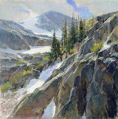 """Skip Whitcomb - American / Colorado (born 1946) """"Ascension"""" 24 x 24"""" Pastel"""