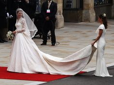 Catherine Middleton arrives for the Royal Wedding of Prince William to Catherine Middleton at Westminster Abbey on April 29, 2011 in London, England. The marriage of the second in line to the British throne is to be led by the Archbishop of Canterbury and will be attended by 1900 guests, including foreign Royal family members and heads of state.