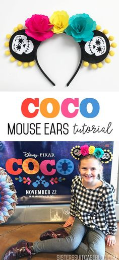 No-Sew Coco Mouse Ears inspired from Disney movie Coco!