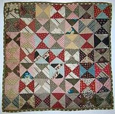 """broken dishes"" doll quilt."