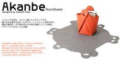Akanbe, felt bag with a funny face