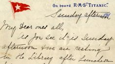 The only known surviving letter written by a passenger on the Titanic the day it sank is expected to fetch tens of thousands of dollars at auction.The letter penned by Esther Hart, who survived the sinking with her seven-year-old daughter, Eva, will go under the hammer April 26.