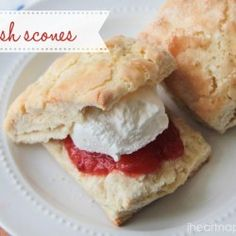 Irish Scones recipe. I am going to use this recipe for my first scone baking attempt! Maybe add raspberries and white chocolate chips!