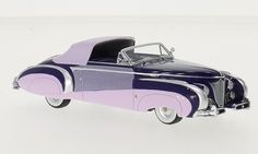 Cadillac Series 62 Saoutchik Cabriolet 1948 lila/dunkelrosa 1:43 Minichamps