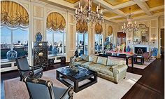 Ritz-Carlton penthouse, New York (© Realtor.com)  http://realestate.msn.com/most-expensive-us-home-sales-ever#6