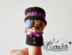 Krawka: Set of crochet finger puppets -  super Villains from Batman:  Penguin