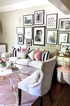 Home Decoration Design Ideas My Living Room, Home And Living, Living Room Decor, Bedroom Decor, Unique Home Decor, Cheap Home Decor, Diy Home Decor, Pretty In Pink, Home Interior