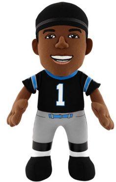 """Cam Newton (Black Jersey) (Carolina Panthers) 10"""" NFL Player Plush Bleacher Creatures"""