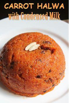 Carrot Halwa Recipe - Gajar Ka Halwa using Condensed Milk - Yummy Tummy