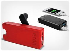 Eton Boost Turbine. Portable power boost any time he needs it. A rechargeable USB battery pack with a hand turbine powered generator means he can charge his smart phone whenever, wherever. 59.00