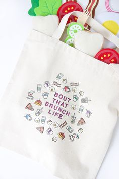 Use a few simple crafting supplies to create a customized easy diy stamped canvas tote bag that you can color with fabric markers.