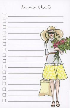 Le Market // Sweet Caroline Designs Notepad // Shop now: http://sweetcarolinedesigns.com/shop/le-market-yellow-skirt/