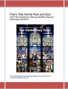 Canterbury Tales: Friar's Tale Activity Pack, Quiz, Summary $4.99