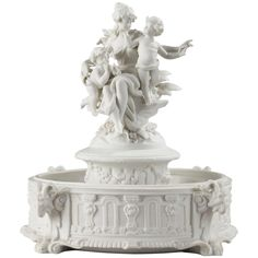 1500 Biscuit Porcelain Centerpiece with Musical Cupids | From a unique collection of antique and modern centerpieces at https://www.1stdibs.com/furniture/dining-entertaining/centerpieces/