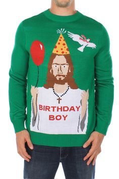 Men's Jesus Christmas Jumper | Tipsy Elves