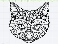 Fancy Cat Design SVG EPS DXF Studio 3 Cut File