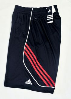 068225d26665 adidas Running Shorts Raise Up 3 Stripes Black Light Scarlet Men s size S  NWT  adidas