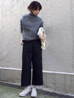 Statistics On Women S Fashion Key: 6722366500 Sixties Fashion, Retro Fashion, Korean Fashion, Autumn Fashion Women Fall Outfits, Winter Fashion, Womens Fashion, Pantalon Large, Mein Style, Japan Fashion