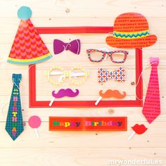 """Photo booth """"Birthday"""" - 13 unidades. #party #photobooth"""
