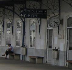 O Palhetas na Foz: Estação de combóios remodelada -placa de centenári...