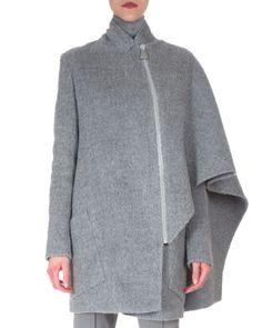 Asymmetric+Draped+Cape+Jacket+by+Akris+at+Neiman+Marcus.