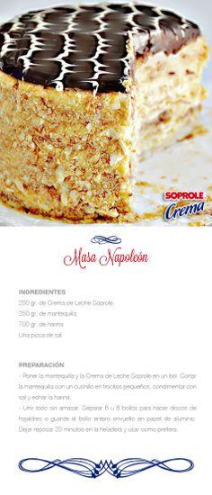 Masa Napoleón Baking Recipes, Cake Recipes, Dessert Recipes, Desserts, Pistachio Biscotti, Cakes And More, Sweet Recipes, Cupcake Cakes, Yummy Food