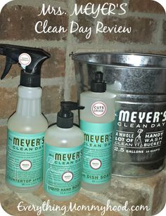 Darci from Everything Mommyhood loves her new, eco-friendly #MrsMeyersCleans products