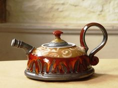 Ceramic Teapot with Colorful Hand Painted by DankoHandmade on Etsy
