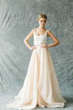 Glowing Organza - Modern and Elegant Two-Piece Wedding Dresses - Photos