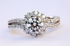 CUSTOM Made For YOU  1.60 carat Round  Halo  by BeautifulPetra, $3750.00 Pin it to win it!!! So pretty.