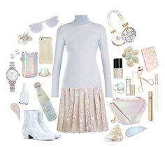 """""""iridescent"""" by twinkle-twin ❤ liked on Polyvore featuring Maude, Maison Margiela, Christopher Kane, Gabriela Hearst, Anne Sisteron, Shinola, Essie, Yves Saint Laurent, Crabtree & Evelyn and S'well"""