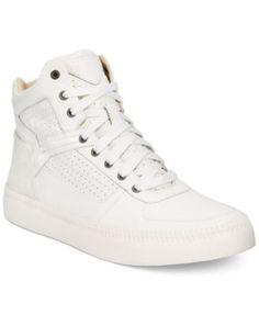 DIESEL Diesel Men'S V Is For Diesel S-Spaark Leather High Top Sneaker. #diesel #shoes # all men