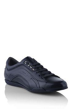 Deportivas 'Biarton' de piel, Azul oscuro. Hugo BossMarioSneakerCasual  ShoesDark BlueMen FashionFurAccessoriesLeather