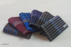 Hankerchiefs Fancy Cotton Hankerchiefs Combo Material: Cotton Pattern: Striped Multipack: 6 Sizes:  Free Size (Length Size: 18 in Width Size: 18 in) Country of Origin: India Sizes Available: Free Size *Proof of Safe Delivery! Click to know on Safety Standards of Delivery Partners- https://ltl.sh/y_nZrAV3  Catalog Rating: ★4 (233)  Catalog Name: Styles Unique Men Handkerchief CatalogID_922014 C65-SC1230 Code: 671-6068547-